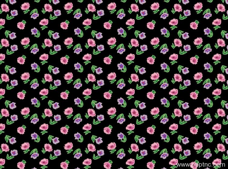 植物花朵矢量图纺织面料水印数码印花花型金昌格式源文件分色稿A2692-1-POP花型网