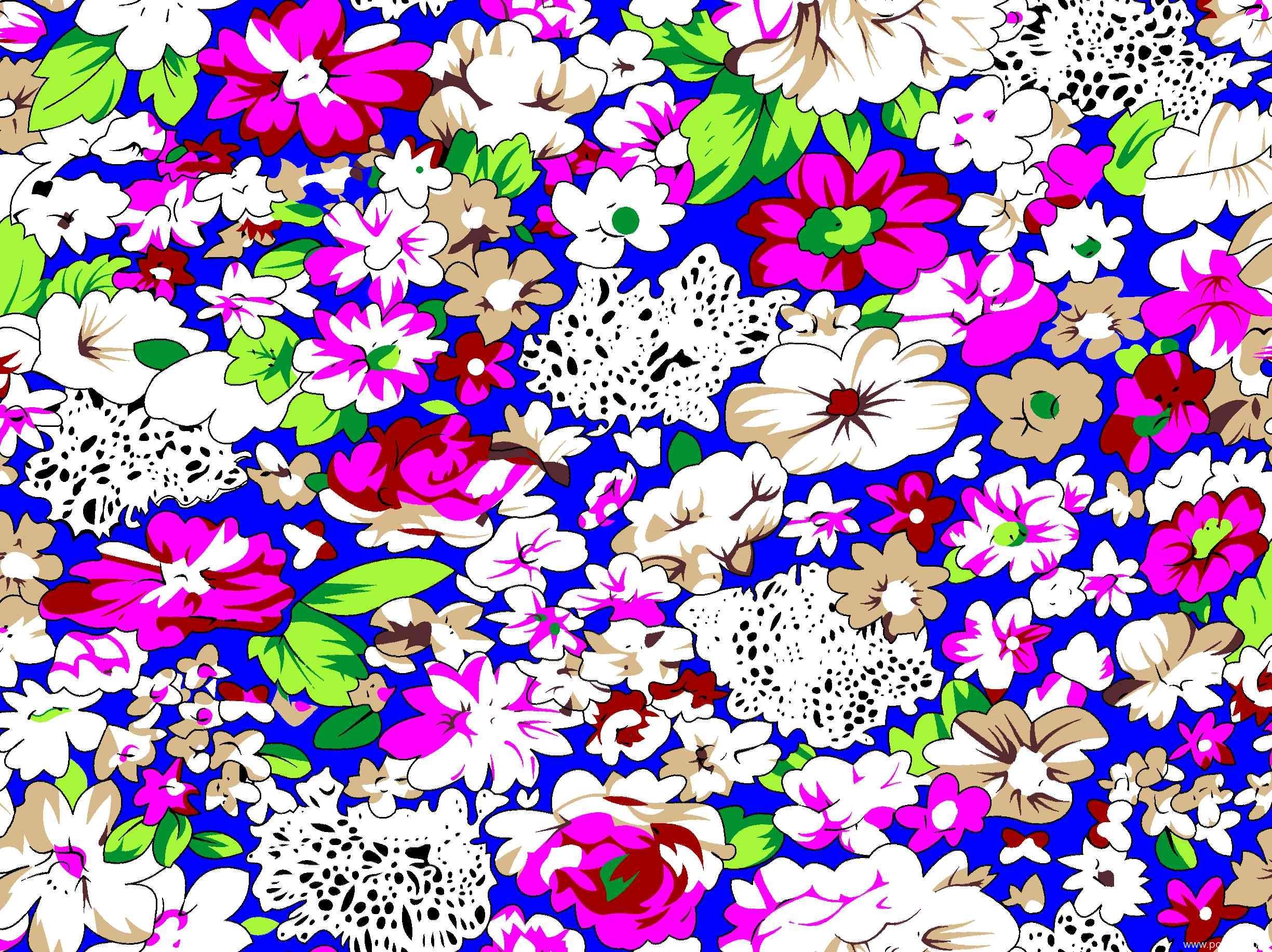 新款多彩几何植物花卉纺织面料水印数码印花矢量图金昌格式源文件a2723-2-POP花型网