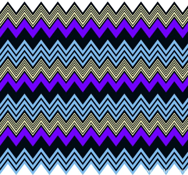几何波浪纹纺织面料矢量图服装金昌分色稿源文件a2722-POP花型网