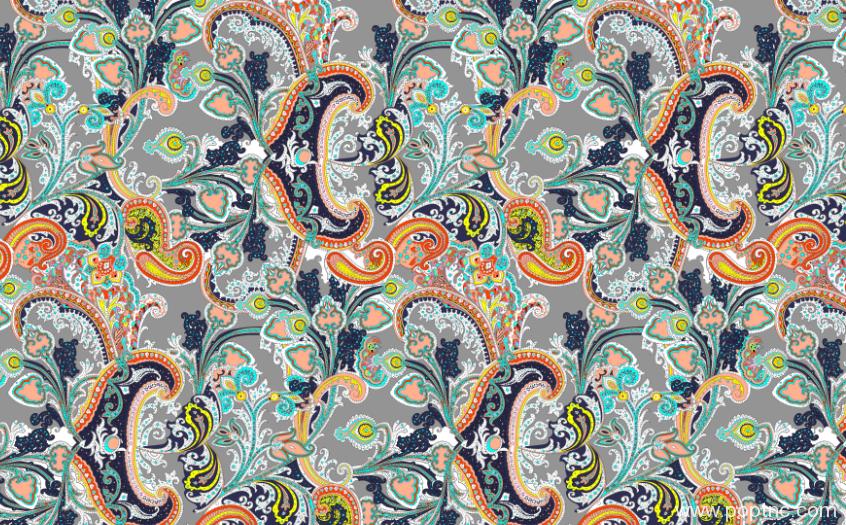 复古腰果植物花卉纺织印花矢量图金昌格式分色稿源文件a2720-POP花型网