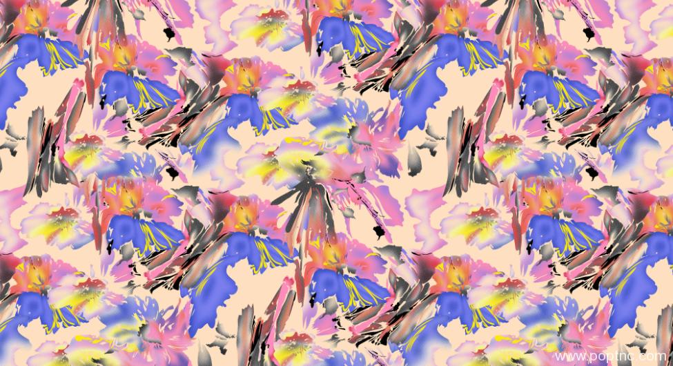 多彩几何印花是纺织面料图案金昌格式分色稿文件A2718-POP花型网