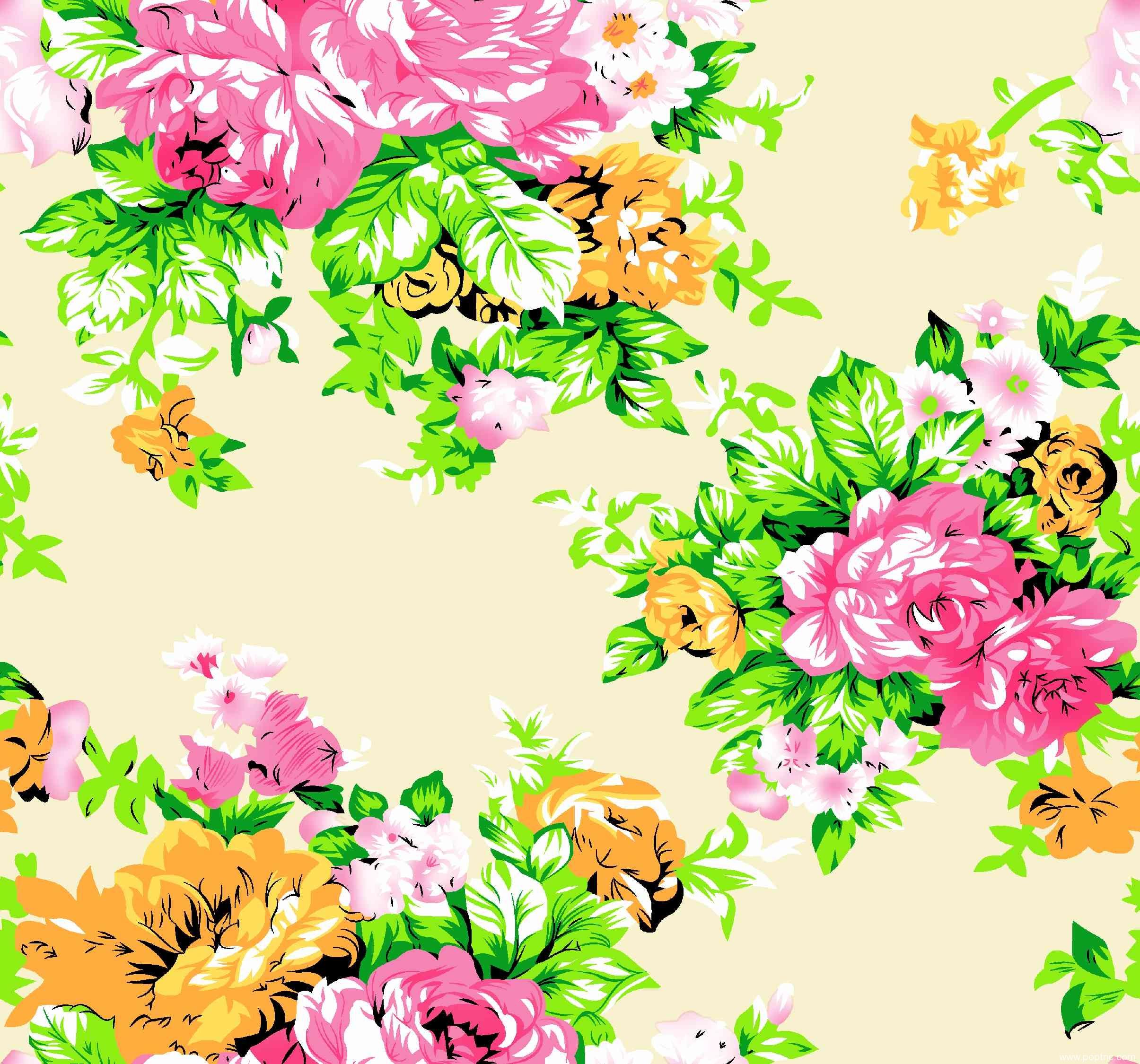 大牡丹花服装纺织面料印花花型金昌分色稿源文件A2768-4-POP花型网