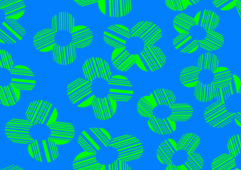 绿色几何条纹花朵印花矢量图纺织面料水印数码印花金昌分色稿a2760-1-POP花型网