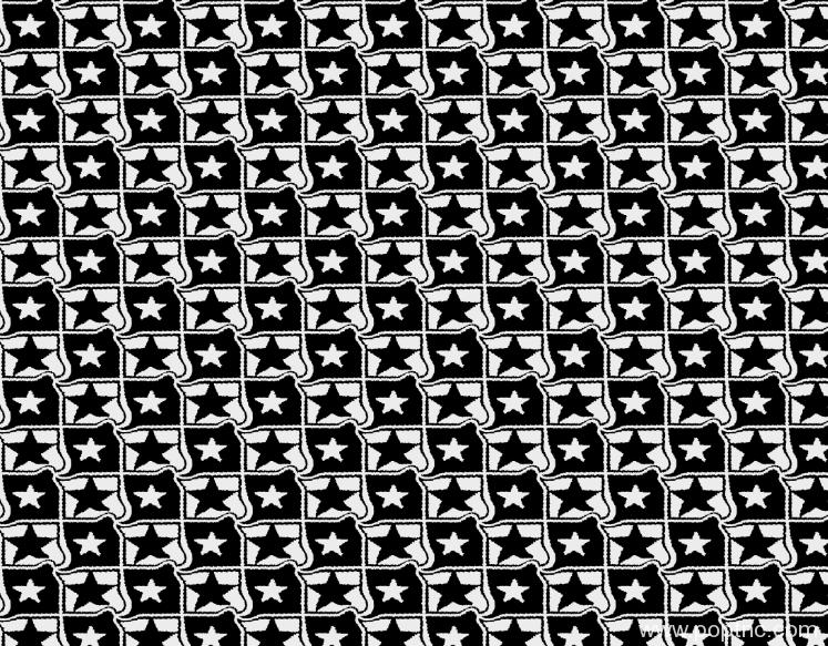 几何五角星纺织面料水印数码印花矢量图金昌格式分色稿源文件a2698-3-POP花型网