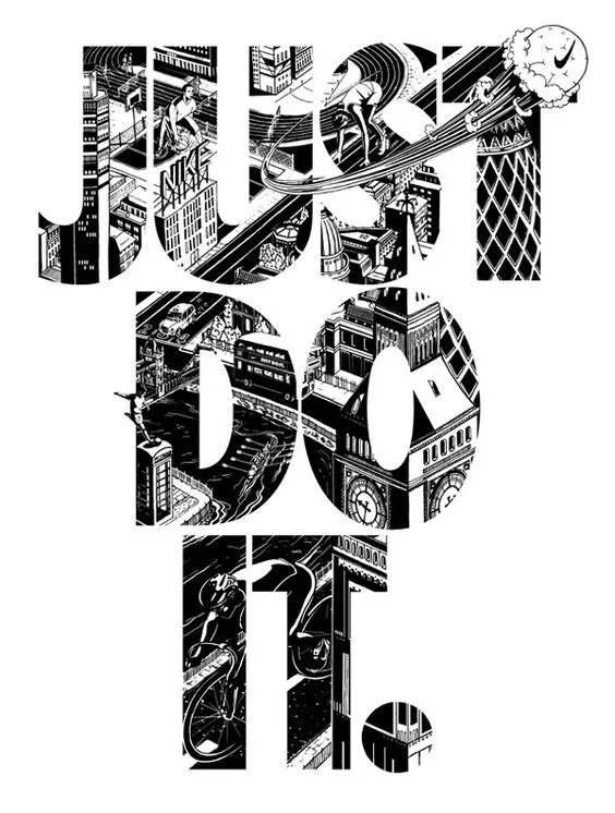 几何字母JUST DO IT图案服装裁片T恤烫图印花花花型素材-POP花型网