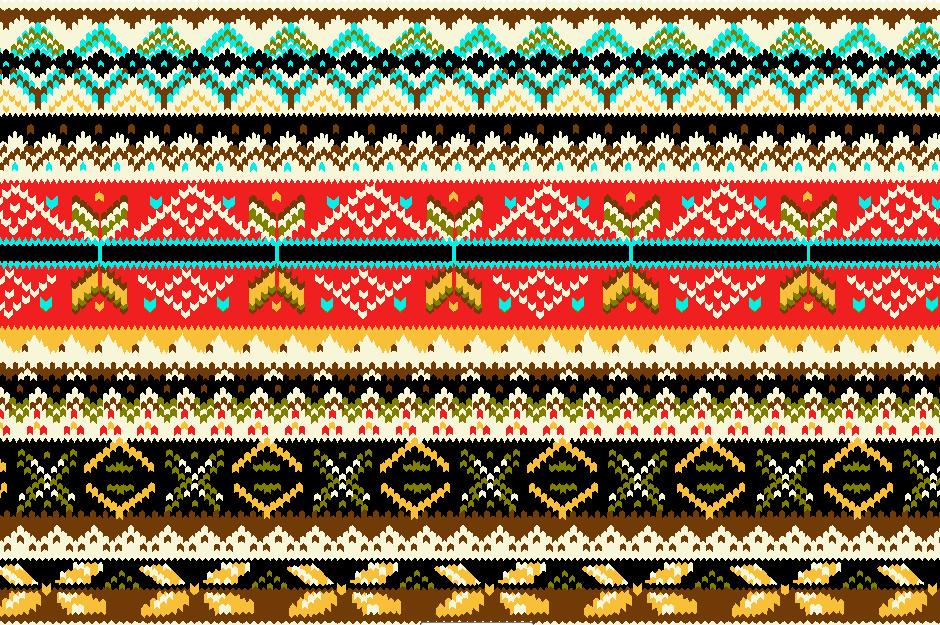 几何多彩花纹拼接矢量图服装纺织面料水印数码印花花型素材-POP花型网
