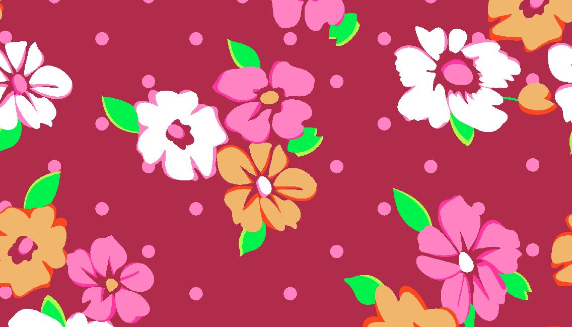 植物桃花矢量图服装纺织面料水印数码印花金昌花型素材-POP花型网