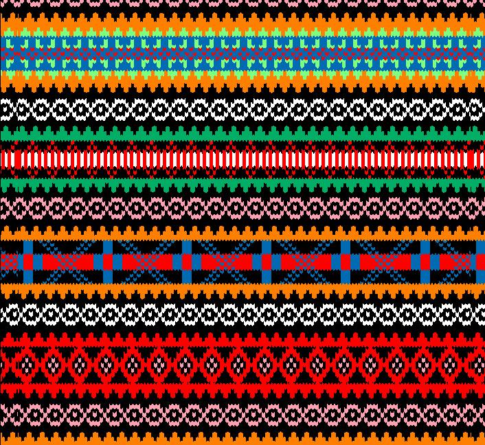 多彩几何菱形拼接矢量图服装纺织面料水印数码印花金昌花型素材-POP花型网