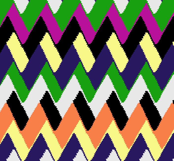 多彩几何波浪菱形矢量图服装纺织面料水印数码印花金昌花型素材-POP花型网