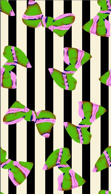 黑白条子几何蝴蝶结矢量图服装纺织面料水印数码印花金昌花型素材-POP花型网