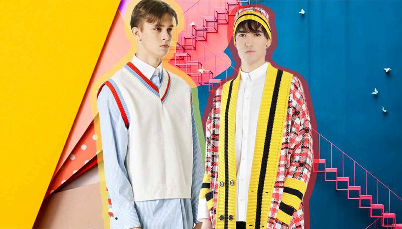 2020春夏男装毛衫重点款式细节缤纷罗纹-POP花型网