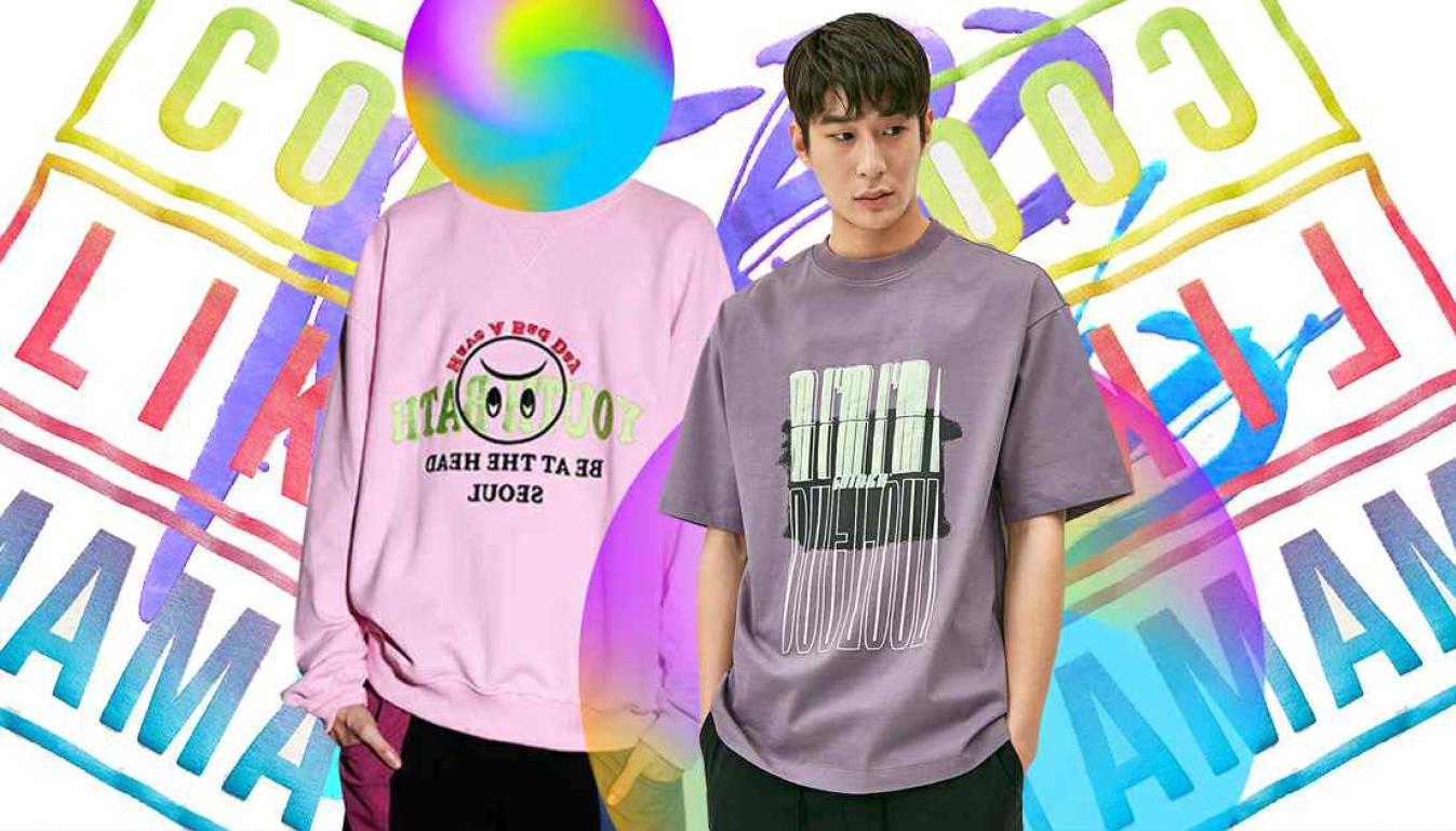 2020春夏男装图案工艺趋势预测艺术字母-POP花型网