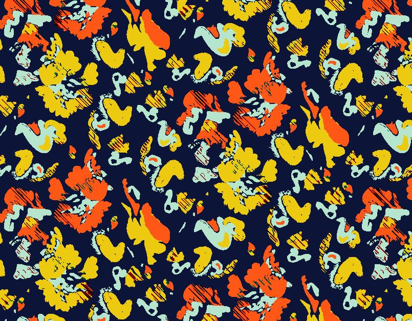 几何涂鸦拼接矢量图服装纺织面料水印数码印花金昌花型素材-POP花型网