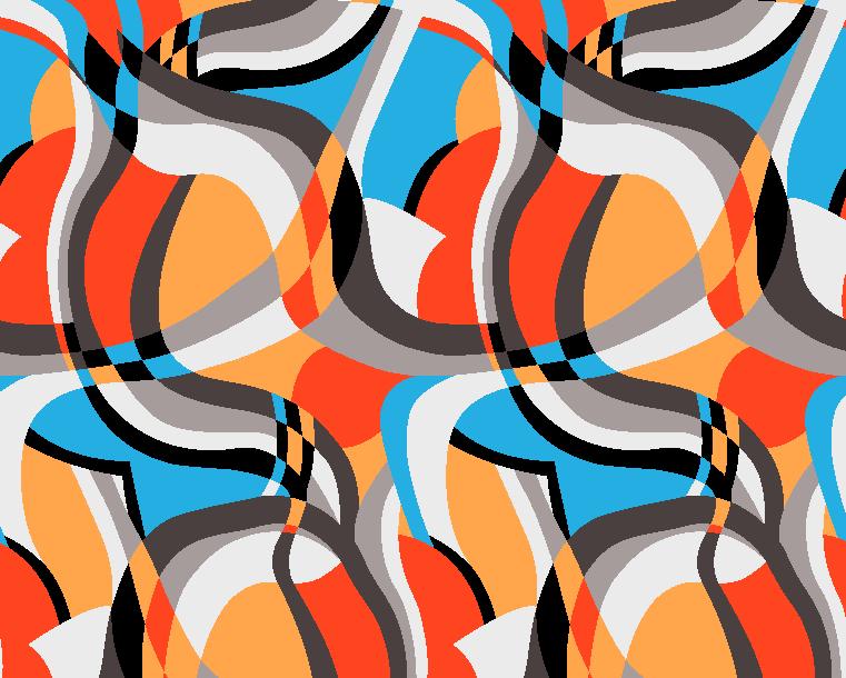 多彩几何条纹拼接矢量图服装纺织面料水印数码印花金昌花型素材-POP花型网