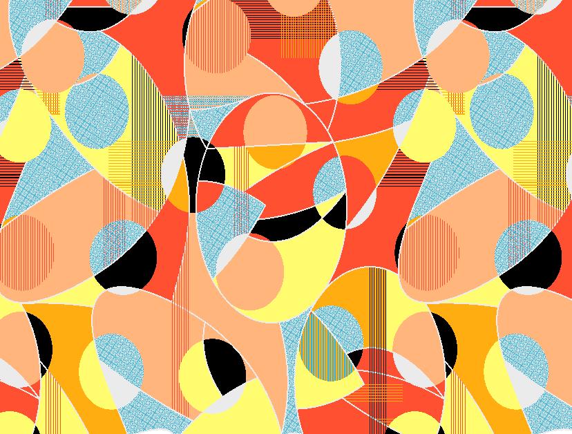 几何圆形线条拼接矢量图服装纺织面料水印数码印花金昌花型素材-POP花型网