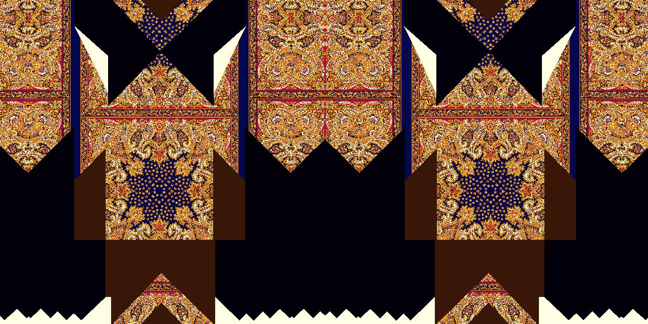 复古几何花纹拼接矢量图服装纺织面料水印数码印花金昌花型素材-POP花型网