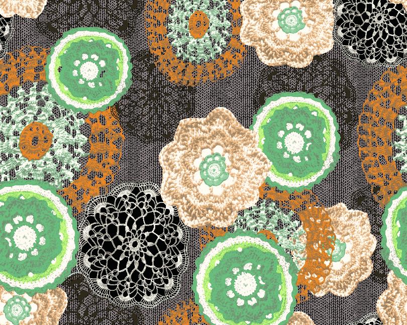 几何花纹复古矢量图服装纺织面料水印数码印花金昌花型素材-POP花型网