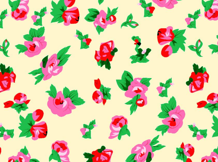 几何植物花卉矢量图服装纺织面料水印数码印花金昌花型素材-POP花型网