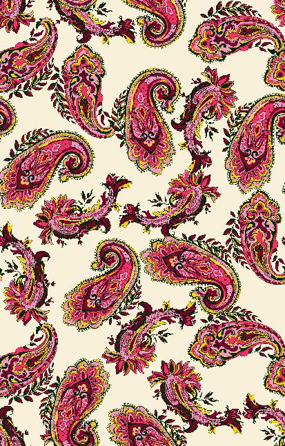 几何腰果花纹拼接矢量图服装纺织面料水印数码印花金昌花型素材-POP花型网