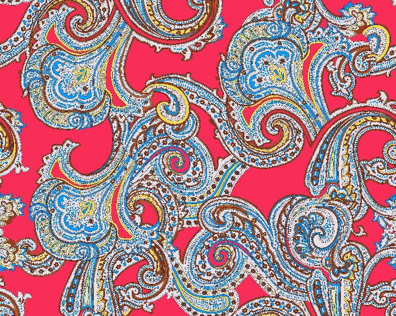 几何复古花纹拼接矢量图服装纺织面料水印数码印花金昌花型素材-POP花型网