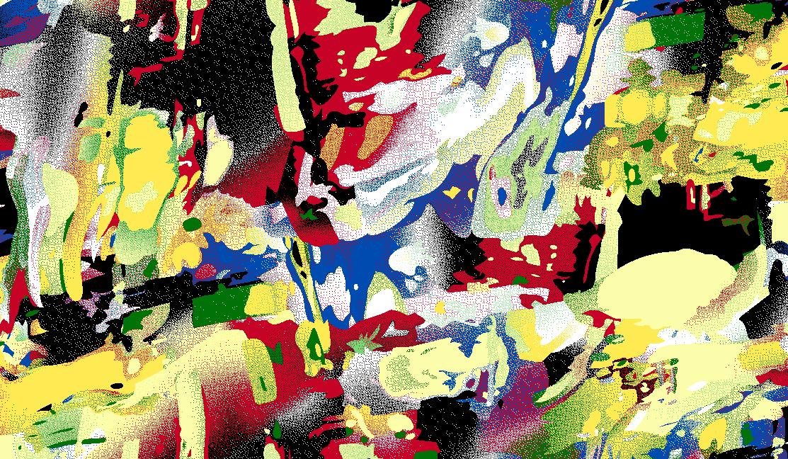 几何多彩涂鸦矢量图服装纺织面料水印数码印花金昌花型素材-POP花型网