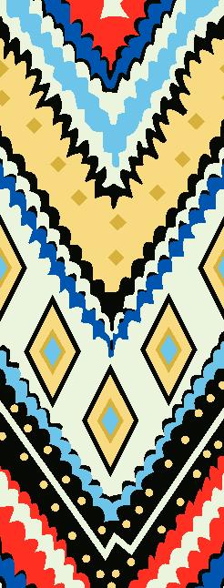 几何菱形波浪矢量图服装纺织面料水印数码印花金昌花型素材-POP花型网