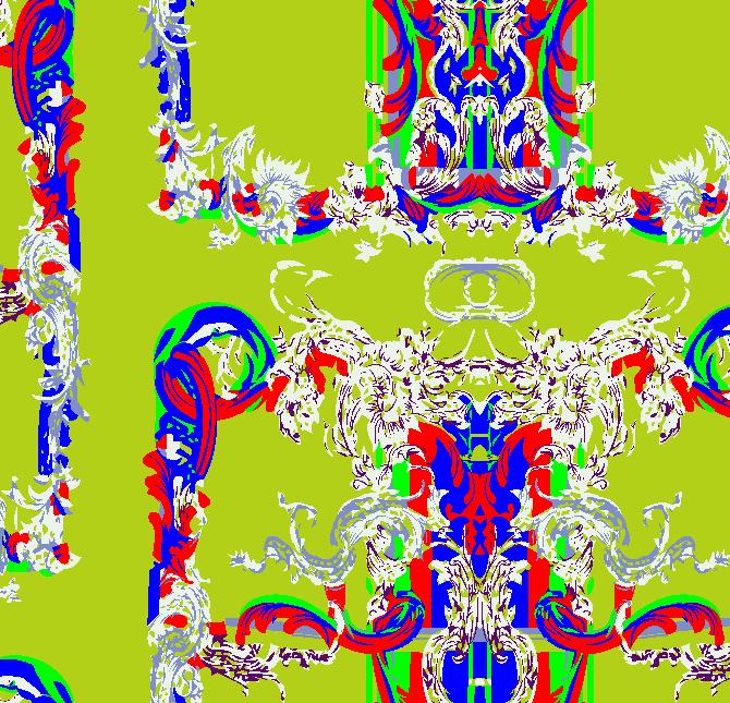 几何花纹拼接矢量图服装纺织面料水印数码印花金昌花型素材-POP花型网