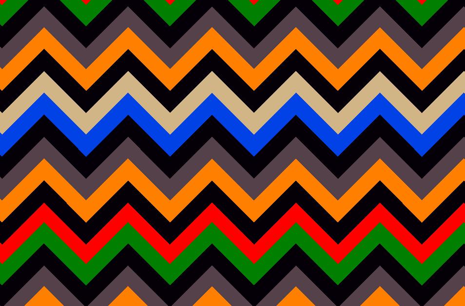 多彩几何波浪条纹拼接矢量图服装纺织面料水印数码印花金昌花型素材-POP花型网