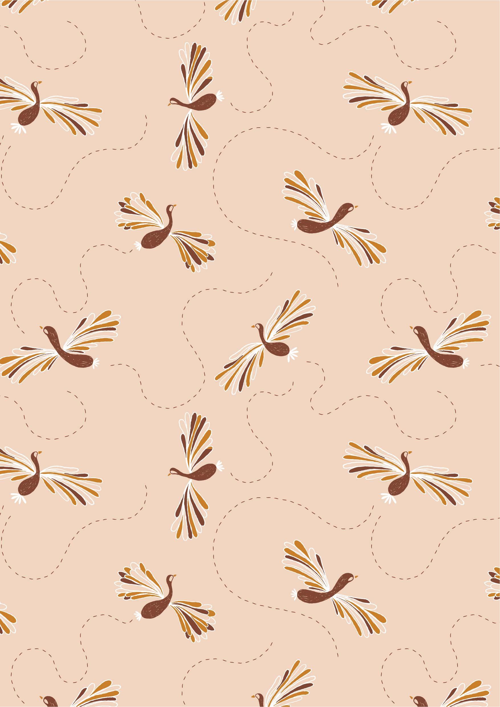 几何花纹孔雀图案矢量图服装纺织面料数码印花花型素材-POP花型网