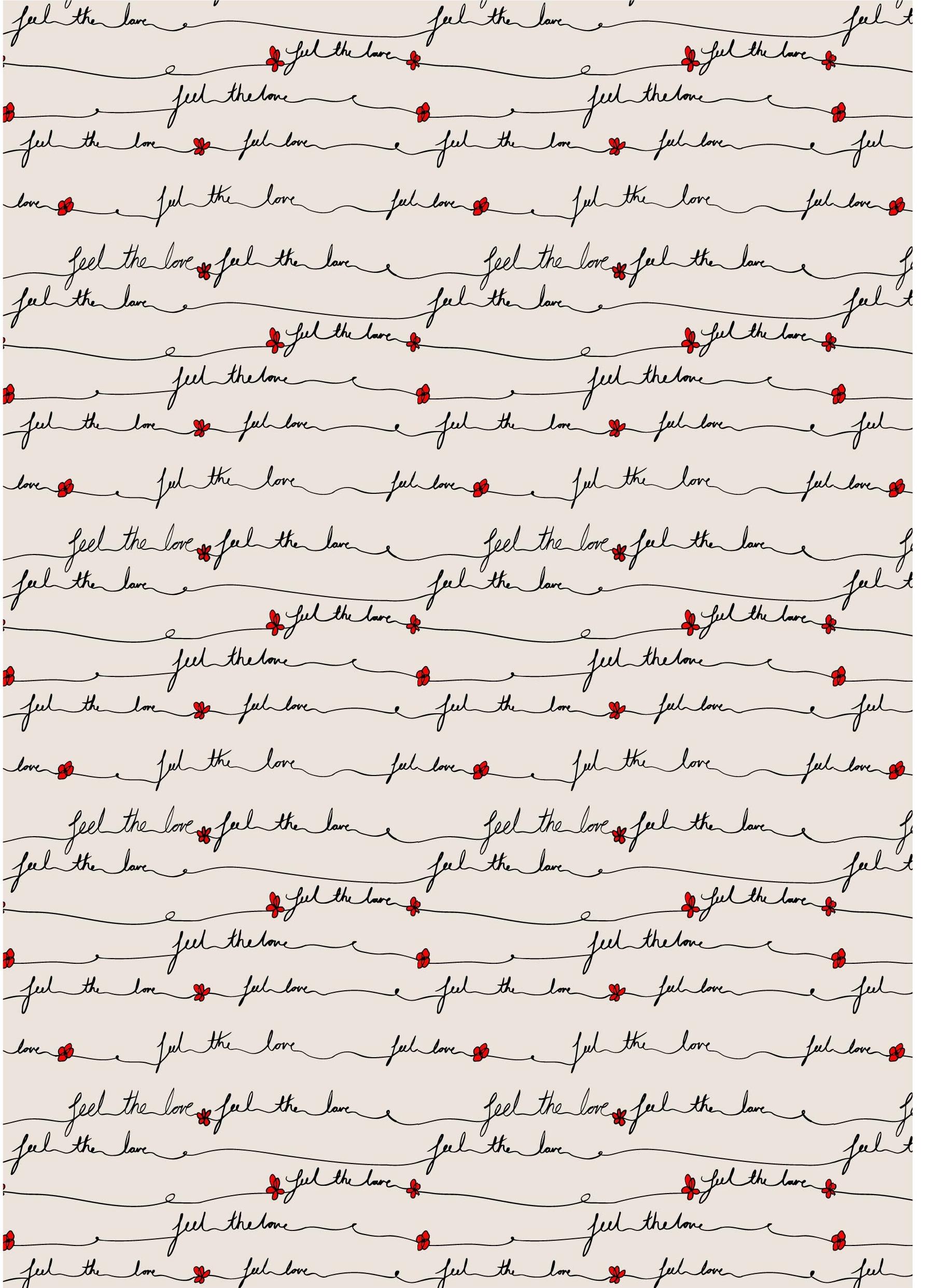几何字母线条小红花矢量图服装纺织面料数码印花花型素材-POP花型网