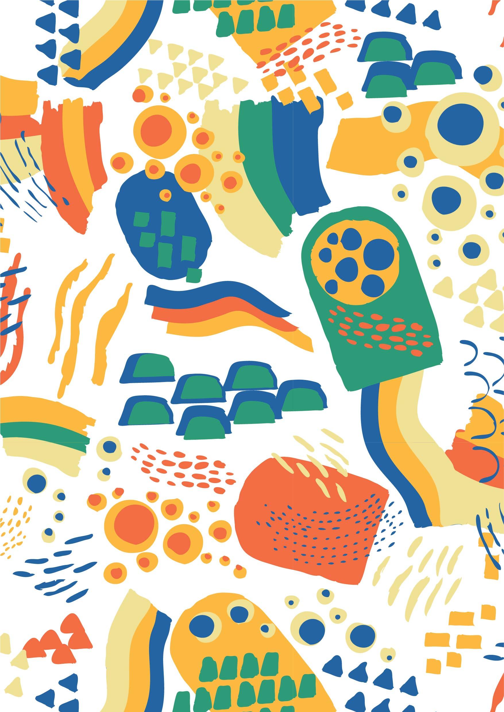 几何手绘拼接矢量图服装纺织面料数码印花花型素材-POP花型网