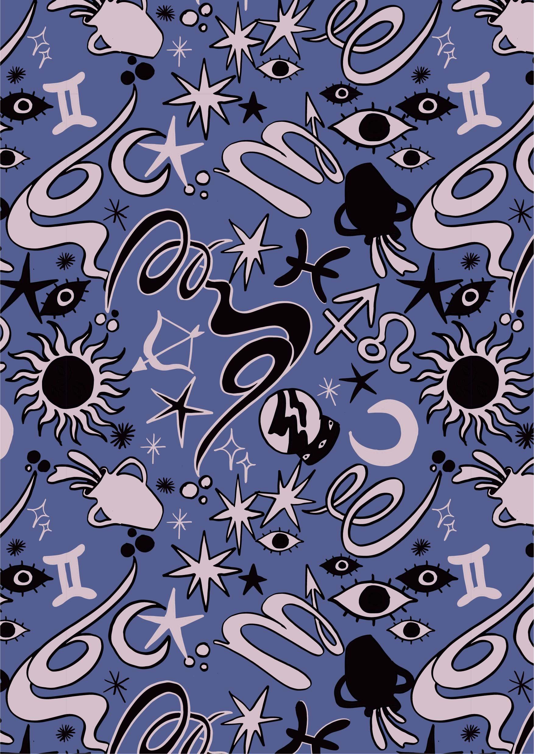 波西米亚风几何图案拼接矢量图服装纺织面料数码印花花型素材-POP花型网