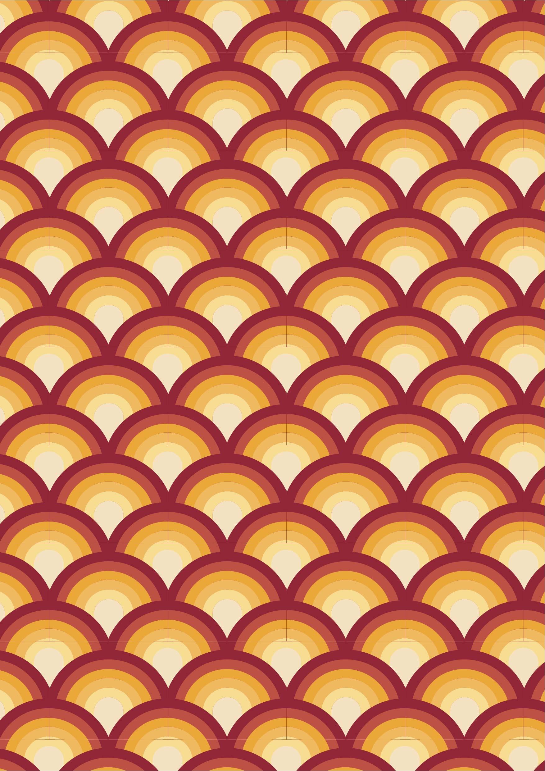几何波浪鱼鳞花纹矢量图服装纺织面料数码印花花型素材-POP花型网