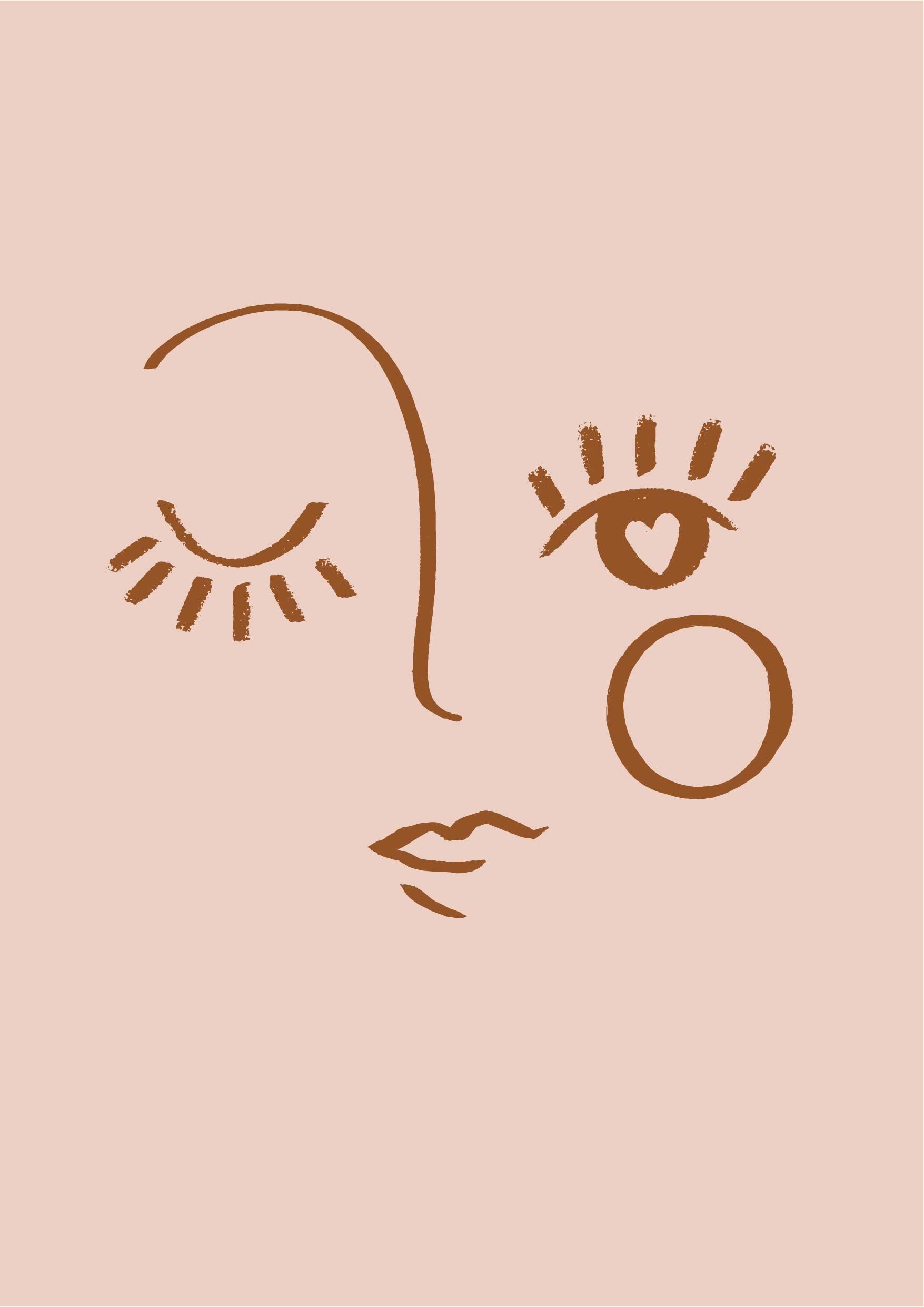 几何条纹拼接脸型眼睛矢量图服装纺织面料数码印花花型素材-POP花型网