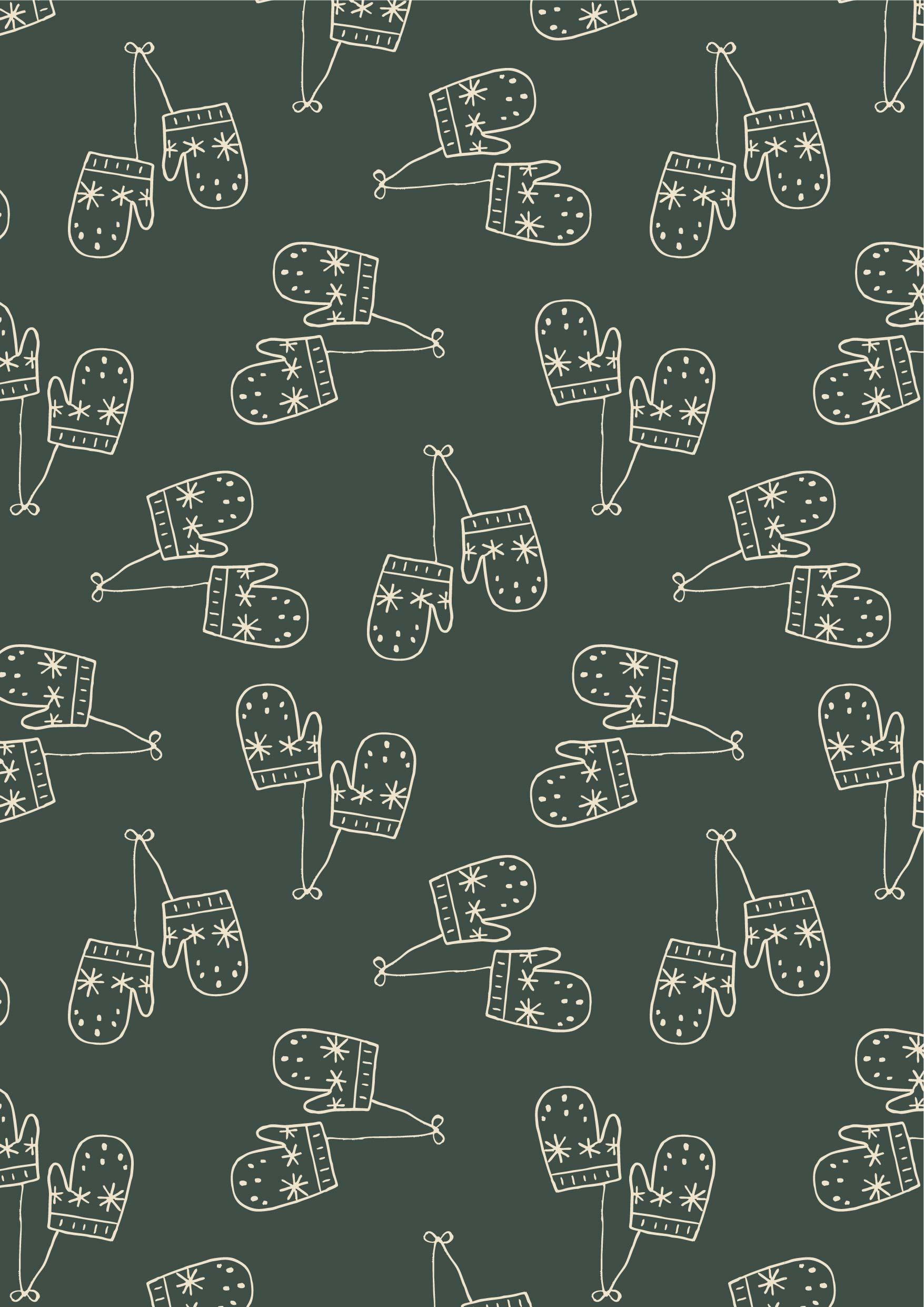 几何条纹手套矢量图服装纺织面料数码印花花型素材-POP花型网