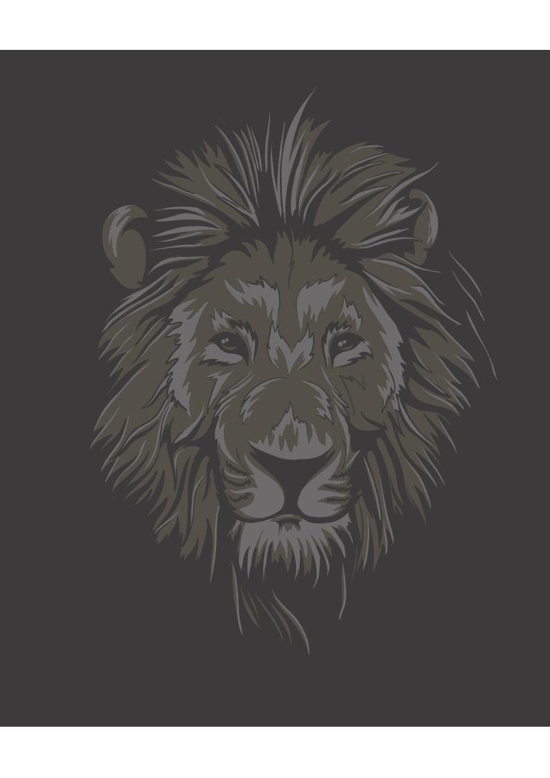 动物狮子图案服装裁片T恤烫图印花花型素材-POP花型网