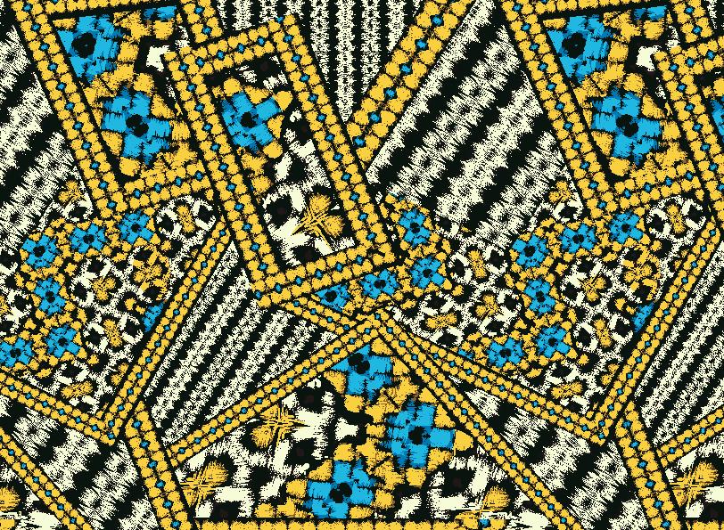 几何图案拼接矢量图服装纺织面料水印数码印花金昌花型素材-POP花型网