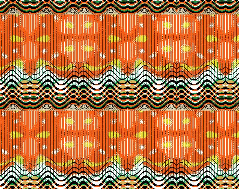 几何波浪条纹印花矢量图服装纺织面料水印数码印花金昌花型素材-POP花型网