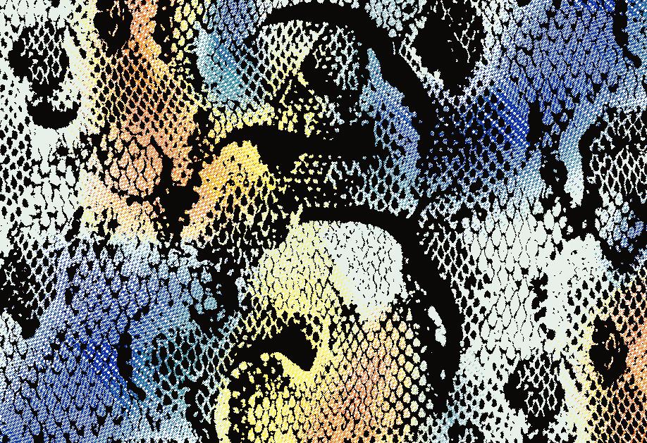 几何蟒纹印花矢量图服装纺织面料水印数码印花金昌花型素材-POP花型网