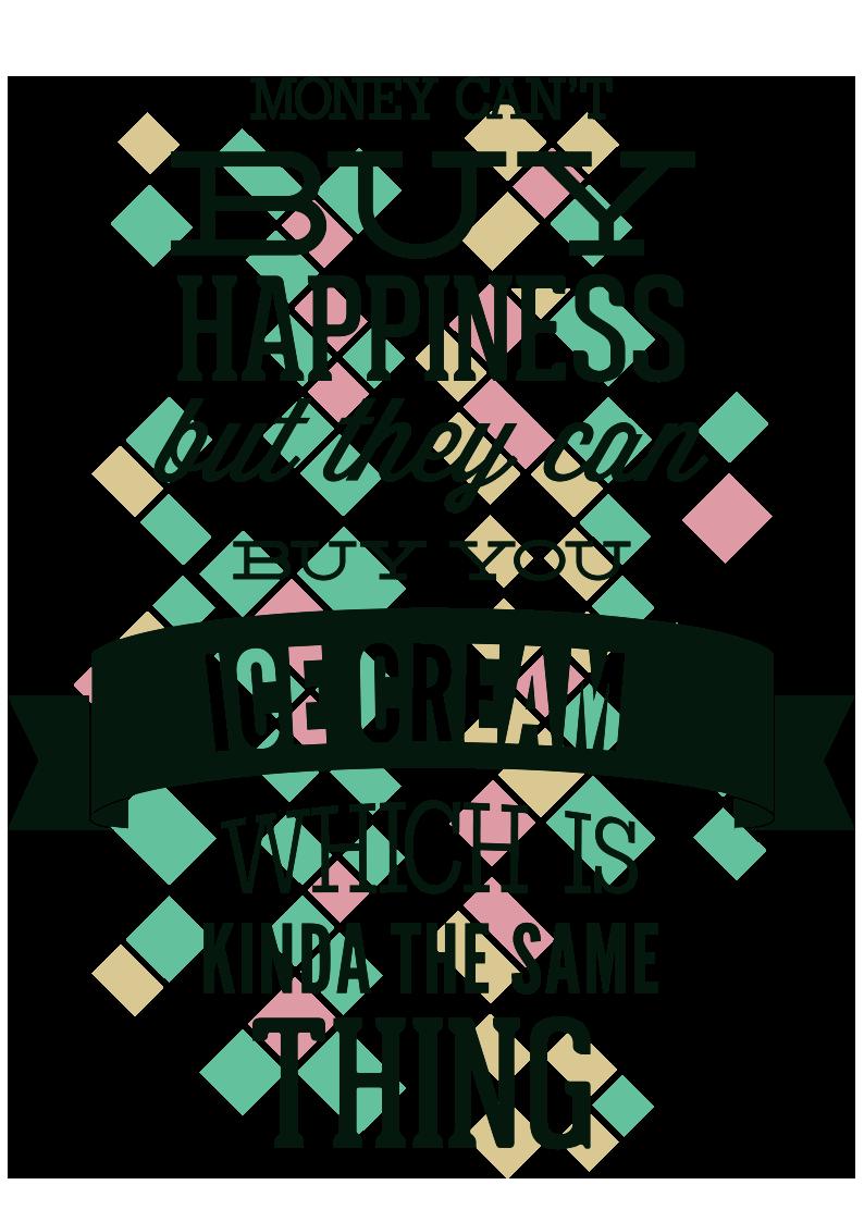 字母几何图案服装T恤烫图印花花型素材-POP花型网