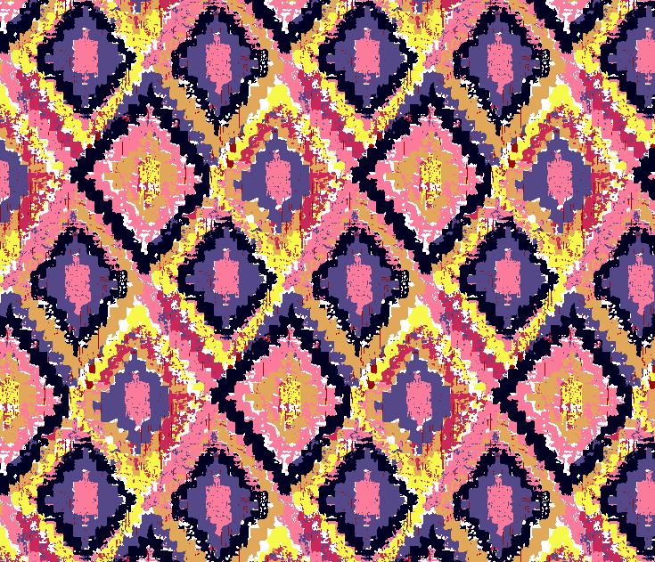 多彩几何图案拼接矢量图服装纺织面料水印数码印花金昌花型素材-POP花型网