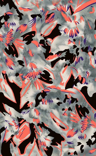 灰色几何花纹拼接矢量图服装纺织面料水印数码印花金昌花型素材-POP花型网