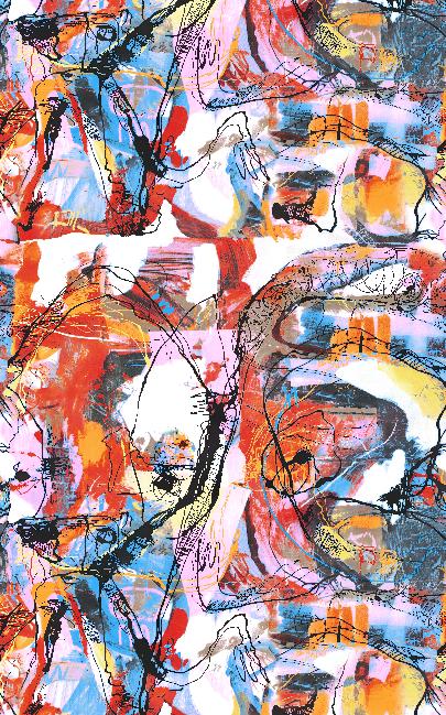 多彩涂鸦几何矢量图服装纺织面料水印数码印花金昌花型素材-POP花型网