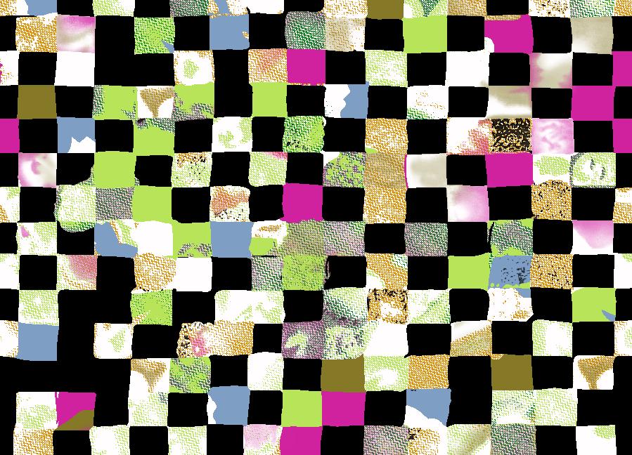 多彩几何方块格子拼接矢量图服装纺织面料水印数码印花金昌花型素材-POP花型网