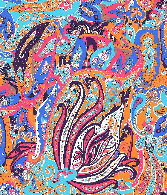 多彩民族几何花纹矢量图服装纺织面料水印数码印花金昌花型素材-POP花型网