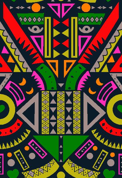 几何菱形拼接矢量图服装纺织面料水印数码印花金昌花型素材-POP花型网