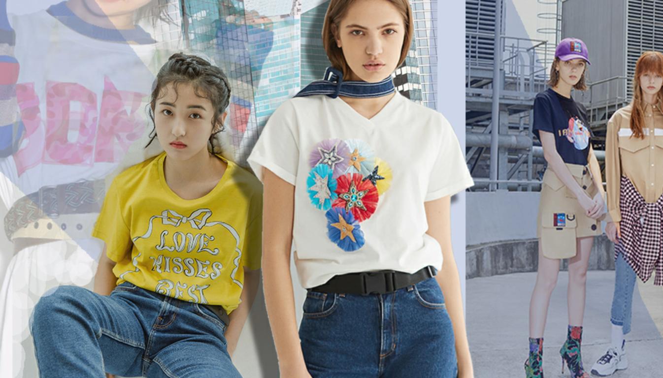 2020春夏女装T恤图案工艺潮酷新说-POP花型网