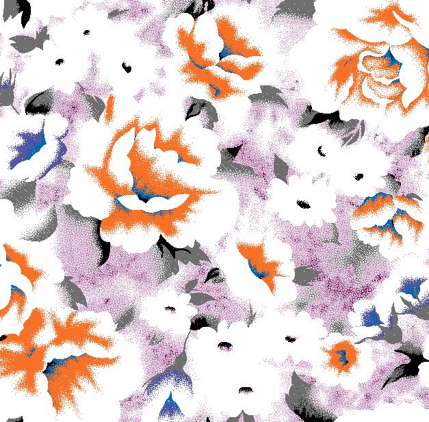 植物牡丹花朵拼接矢量图服装纺织面料水印数码印花金昌花型素材-POP花型网
