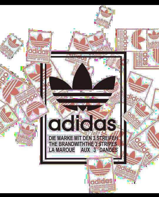 字母三叶草adidas图案服装T恤裁片烫图印花花型素材-POP花型网