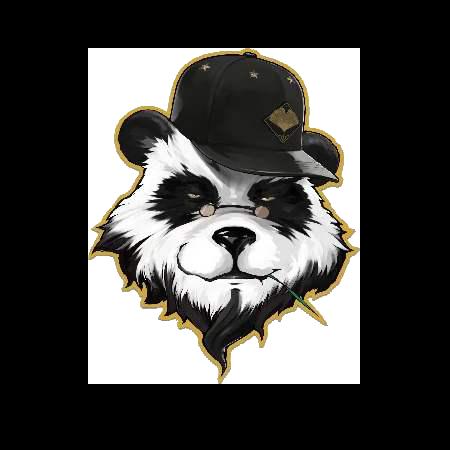 动物国宝熊猫图像服装T恤裁片烫图印花花型素材-POP花型网